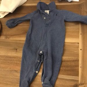 Ralph Lauren blue footed onesie polo